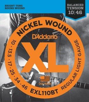struny do gitary elektrycznej D'ADDARIO EXL110BT /010-046/
