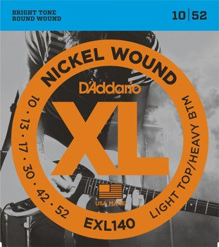 struny do gitary elektrycznej D'ADDARIO EXL140 /010-052/
