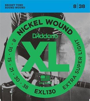 struny do gitary elektrycznej D'ADDARIO EXT.SUPER LIGHT - EXL130 /008-038/