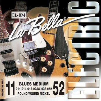 struny do gitary elektrycznej LA BELLA EL-BM Blues Medium NICKEL PLATED /011-052/