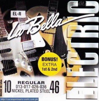 struny do gitary elektrycznej LA BELLA EL-R Regular NICKEL PLATED /010-046/