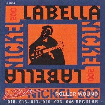 "struny do gitary elektrycznej LA BELLA N1046 ""Nickel 200"" Regular /010-046/"