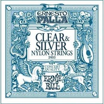 struny do gitary klasycznej ERNIE BALL ERNESTO PALLA Clear Nylon, Normal Tension EB2403 /028-042/