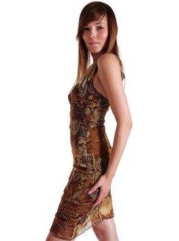 sukienka HARRIET brązowa