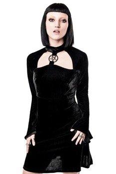 sukienka KILL STAR - ZIVA SHES EVIL VELVET