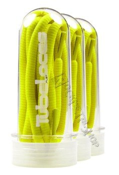 sznurowadła TUBELACES - NEON YELLOW (180 cm)