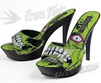 szpilki IRON FIST - ZOMBIE GROWLER PLATFORM (BLACK/GREEN)