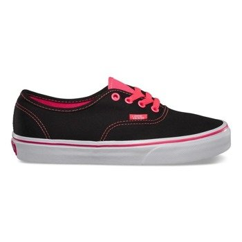 trampki VANS - AUTHENTIC POP BLACK NEON RED