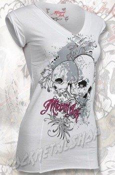 tunika damska MIAMI INK - WHITE SKULLS GIRLIE