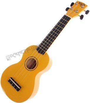 ukulele sopranowe KORALA żółte + pokrowiec
