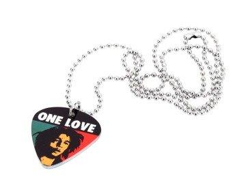 wisior kostka gitarowa BOB MARLEY - ONE LOVE