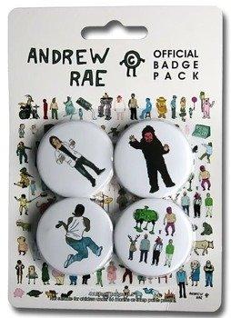 zestaw 4 przypinek ANDREW RAE