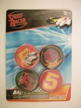 zestaw 4 przypinek SPEED RACER