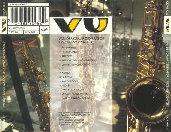 2 x płyta CD: VAN DER GRAAF GENERATOR - I PROPHESY DISASTER