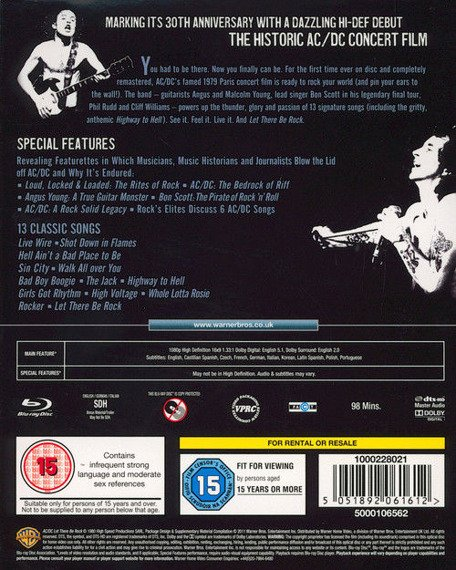 AC/DC:LET THERE BE ROCK (BLU-RAY)