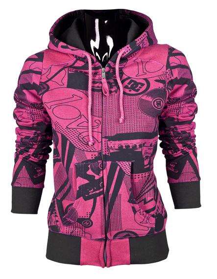 Bluza damska na zamek DC (COMBO) (CRAZY PINK)
