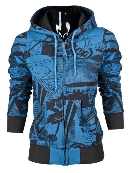 Bluza damska na zamek DC (COMBO) (TRU BLUE)