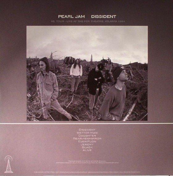 PEARL JAM: DISSIDENT: LIVE AT THE FOX THEATRE, ATLANTA, GA - 1994 (LP VINYL)