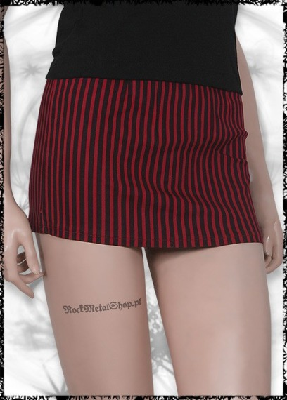 Spódniczka - SKELETON HANDS RED & BLACK