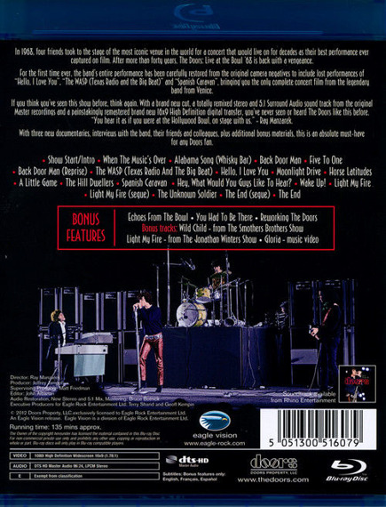 THE DOORS: LIVE AT THE BOWL 1968 (BLU-RAY)