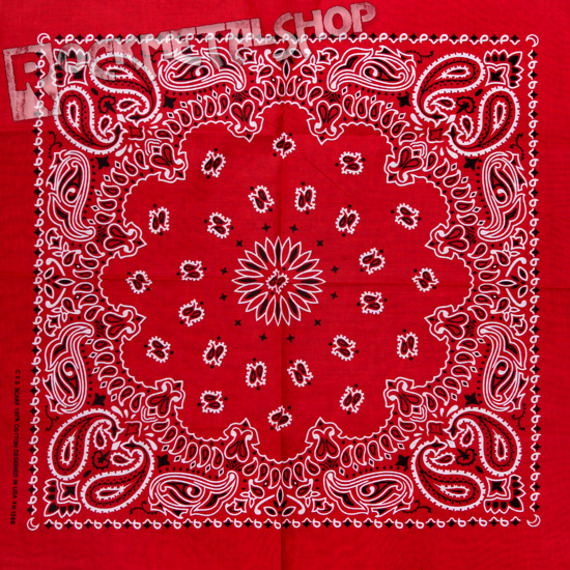 bandana RED/BLACK/WHITE