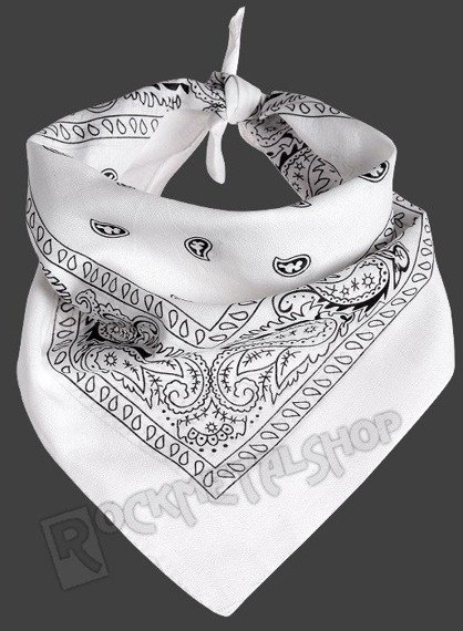bandana white/black