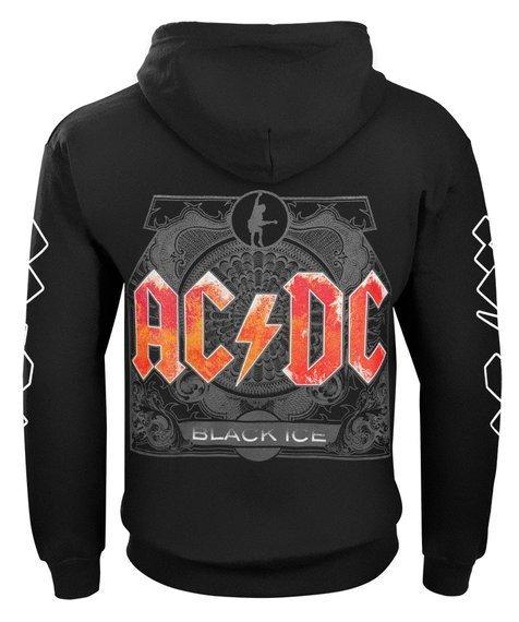 bluza AC/DC - BLACK ICE rozpinana, z kapturem