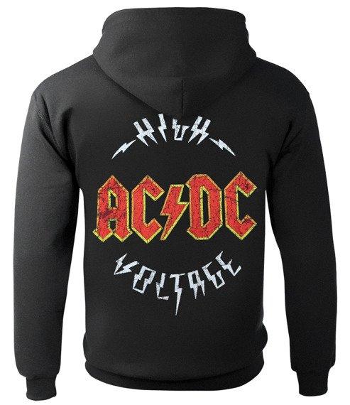 bluza AC/DC - HIGH VOLTAGE, rozpinana z kapturem
