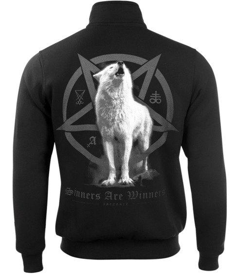 bluza AMENOMEN - WHITE WOLF rozpinana, stójka (OMEN048CS)