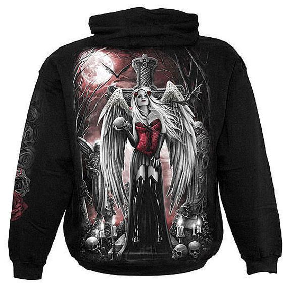 bluza ANGEL OF DEATH czarna, z kapturem