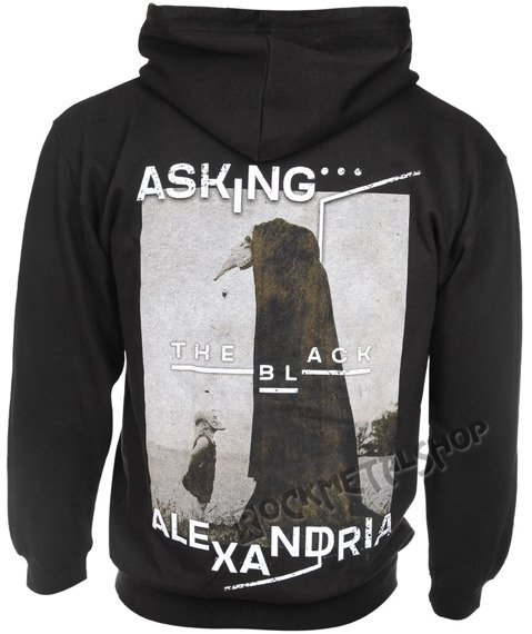 bluza ASKING ALEXANDRIA - THE BLACK ORIGINAL ART, rozpinana z kapturem