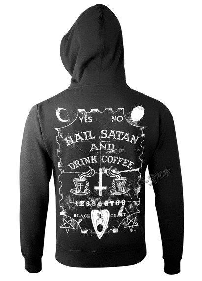 bluza BLACK CRAFT - HAIL SATAN DRINK COFFEE rozpinana, z kapturem