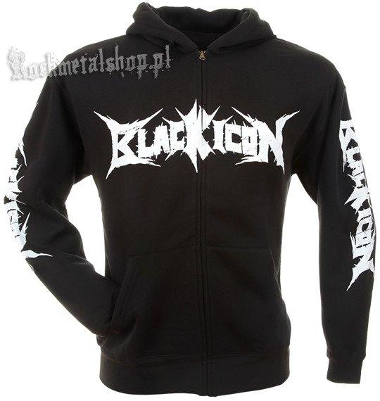 bluza BLACK ICON - SMURFS czarna, rozpinana z kapturem (HZICON090)