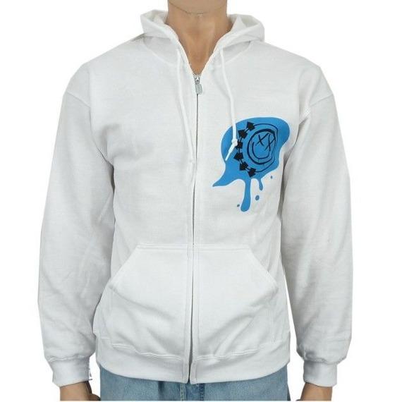 bluza BLINK 182 - BLASTED WHITE rozpinana z kapturem