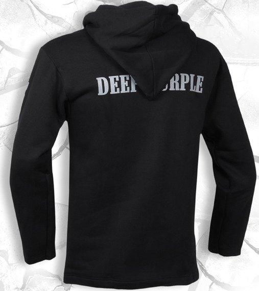 bluza DEEP PURPLE - BAND czarna, z kapturem
