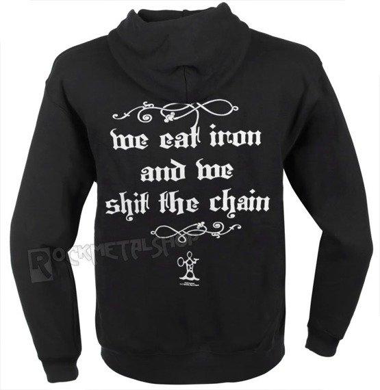 bluza KORPIKLAANI  - WE EAT IRON, rozpinanan z kapturem