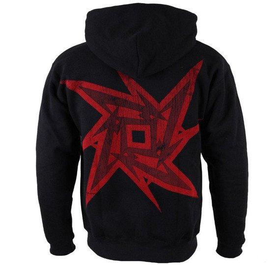 bluza METALLICA - RED NINJA STAR, rozpinana z kapturem
