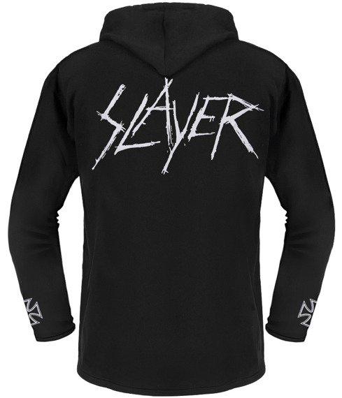bluza SLAYER - LOGO czarna, z kapturem