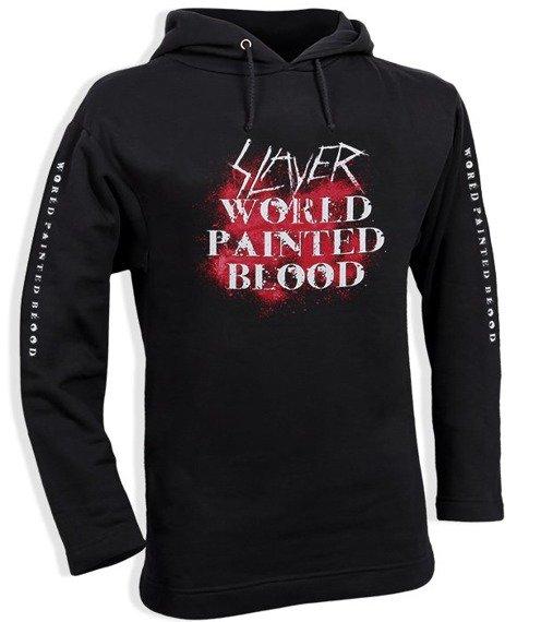 bluza SLAYER - WORLD PAINTED BLOOD czarna, z kapturem