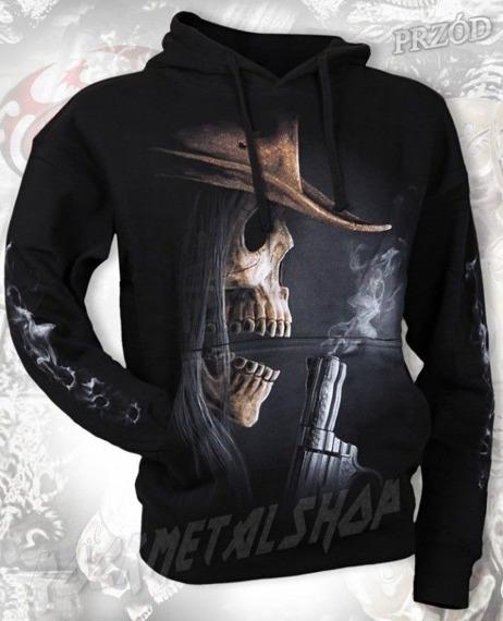 bluza SMOKING GUN czarna, z kapturem
