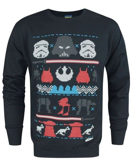 bluza STAR WARS - DARK SIDE FAIR ISLE , bez kaptura