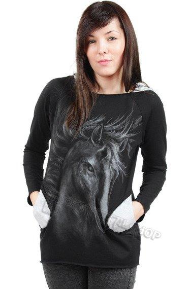 bluza damska HORSE, z kapturem