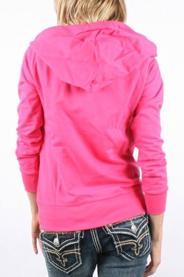 bluza damska IRON FIST - WISHBONE, rozpinana z kapturem