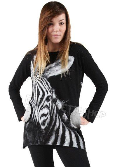 bluza damska ZEBRA, z kapturem