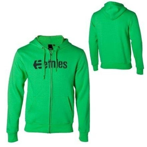 bluza na suwak ETNIES - CORPORATE (FULL ZIP) (GREEN) 09'