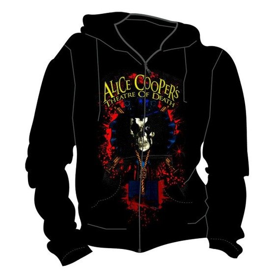 bluza rozpinana ALICE COOPER - THEATRE OF DEATH z kapturem