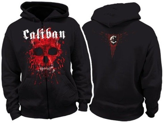 bluza rozpinana Caliban -Bloody Skull (KZS4283)