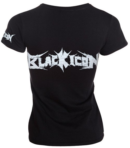 bluzka damska BLACK ICON - LOGO (DICON038 BLACK)