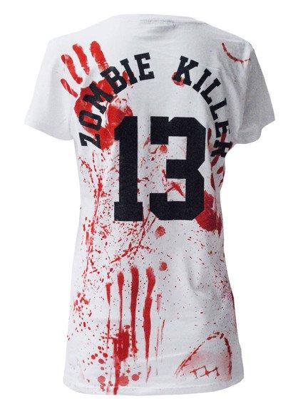 bluzka damska DARKSIDE - ZOMBIE KILLER 13 biała