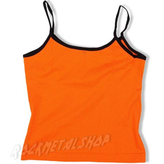 bluzka damska KAŻDY INNY WSZYSCY RÓWNI pomarańczowa na ramiączkach